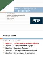 ORDONNANCEMENT DE LA PRODUCTION chapitre premier