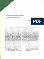 La administración González Flores y el golpe de Estado
