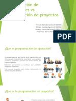 Programación de operaciones vs programación de proyectos