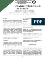 INFORME DE LABORATORIO-ENSAYO DE TORSIÓN (1)
