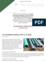 Les différences entre le PVC et le PEHD.._
