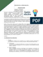 Administrac. educativa - I