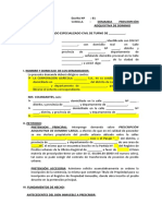 MODELO DEMANDA DE PRESCRIPCION ADQUISITIVA DE DOMINIO