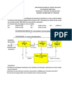 Cálculo de materiales y energía en proceso de extrusión
