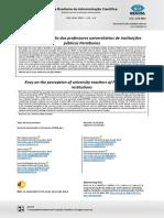 2019 - Silva, Roazzi, Sousa, Silva, Silva (2019). Inveja na percepção dos professores universitários