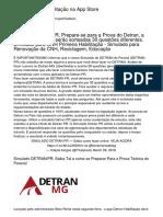 Detran/PR 1ª Habilitação na App Store