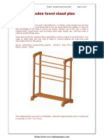 wooden towel stand plan