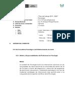 PLAN DE TRABAJO SERUMS 2019 - 2020