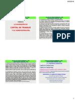 CAPITAL DE TRABAJO financiera