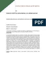 Relación entre los antioxidantes y la calidad seminal