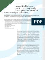 Influência Do Perfil Clínico e Sociodemográfico Na Qualidade de Vida de Cardiopatas Submetidos à Reabilitação Cardíaca