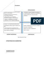 Plan de marketing del proyecto