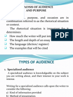 4. ANALYSIS OF AUDIENCE AND PURPOSE