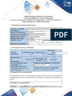Guía de Actividades y Rubrica de Evaluación - Ciclo de la tarea 2 - Base de Datos y Tablas Dinámicas