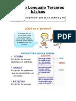 Guía de Lenguaje Terceros básicos (poema)