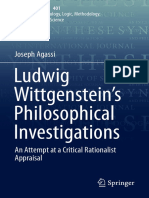 (Synthese Library 401) Joseph Agassi - Ludwig Wittgenstein's Philosophical Investigations_ An Attempt at a Critical Rationalist Appraisal-Springer International Publishing (2018).pdf