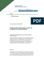 Estudo cinético da biomassa a partir de resultados termogravimétricos