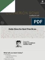 Data Director Best Practices