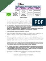 Cronograma Primaria Marzo 24 Al 27