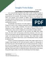 Anagha Vrata Kalpa