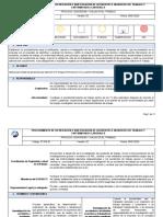 ST-PD-01 Notificación e investigación de accidentes e incidentes de trabajo y EL