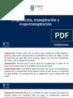 PRE3_Evaporación, transpiración, ET
