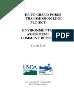 UWP ND20 Minnkota Center GrandForks EA CommentReport