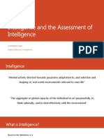 Intelligence and the Assessment of Intelligence - Lecture 7.pptx