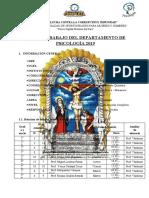 PLAN DE TRABAJO PSICOLOGIA 2019 - I.E Señor de los Milagros