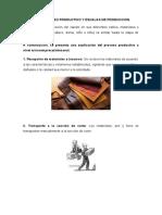 FLUJO DEL PROCESO PRODUCTIVO Y ESCALAS DE PRODUCCION