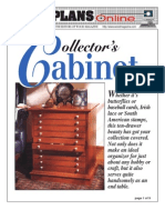 WoodPlans Online - Collectors Cabinet