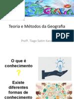 Teoria e Método da Geografia - Introdução