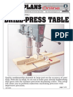 WoodPlans Online - Drill Press Table