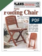 WoodPlans Online - Folding Chair