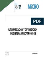 Automatización y optimización de Sistemas Mecatrónicos