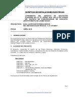 MEMORIA DESCRIPTIVA DE INSTALACIONES ELECTRICAS
