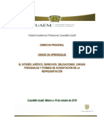 DERECHO PROCESAL Y EL INTERÉS JURÍDICO