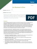 Explore Algorithmic Business to Drive Differentiation