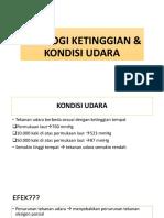 FISIOLOGI KETINGGIAN & KONDISI UDARA