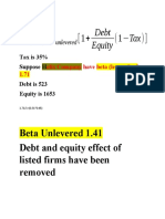 Beta levered and unlevered.docx