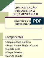ADMINSTRAÇÃO FINANCEIRA & ORÇAMENTÁRIA II
