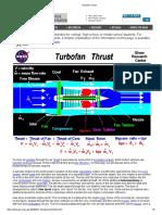 Turbofan Thrust