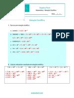 Notação Científica - Gabarito da Ficha de Treino (2)