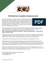 Gca Election Announcement