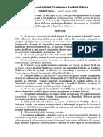 Dispoziția 3 din 23.03.2020 a Cse a RM