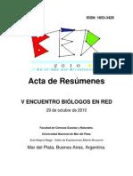 Acta de Resúmenes BER 2010