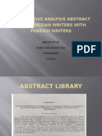 COMPARATIVE ANALYSIS ABSTRACT BY INDONESIAN WRITERS WITH FOREIGN