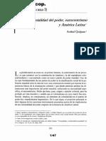 QUIJANO - Colonialidad Del Poder, Eurocentrismo y América Latina