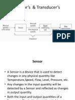Sensor transducer types characterstics
