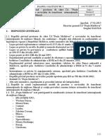 """Reguli privind  prestarea de către Î.S. """"Poşta Moldovei"""" a serviciului de transferuri  internaţionale de mijloace băneşti"""